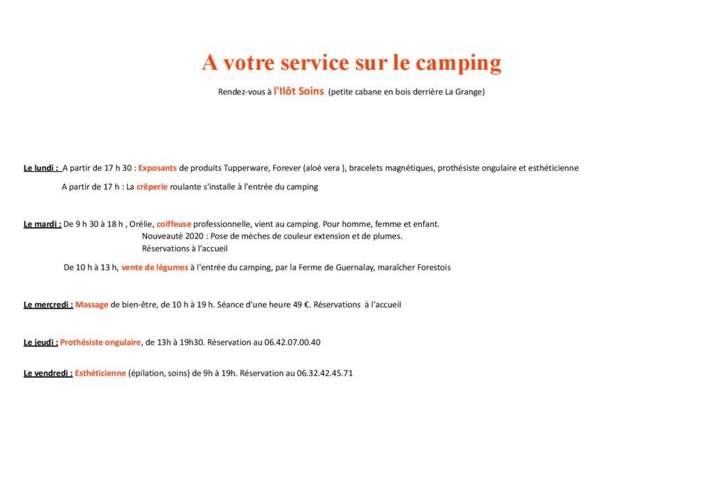 Animations au camping de Kerleven